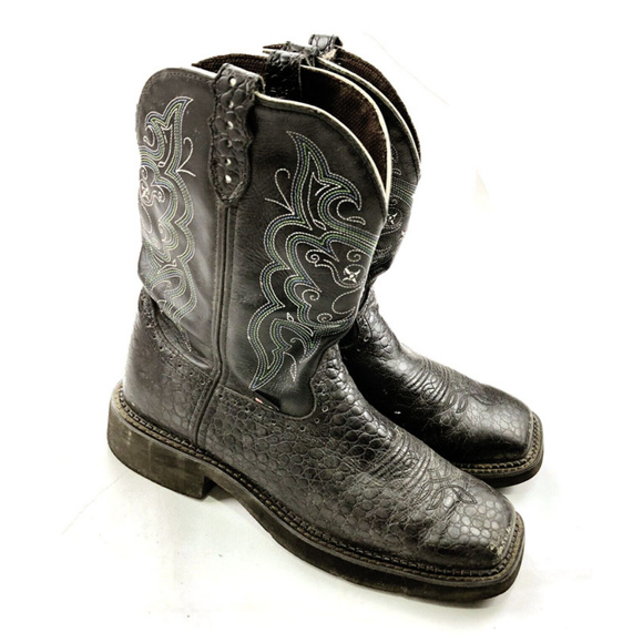 Justin L9993 Ladies Gypsy Boot with Black Pearl 10